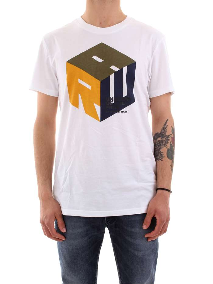 G-STAR Clothing Men T-shirt WHITE D14242 B353