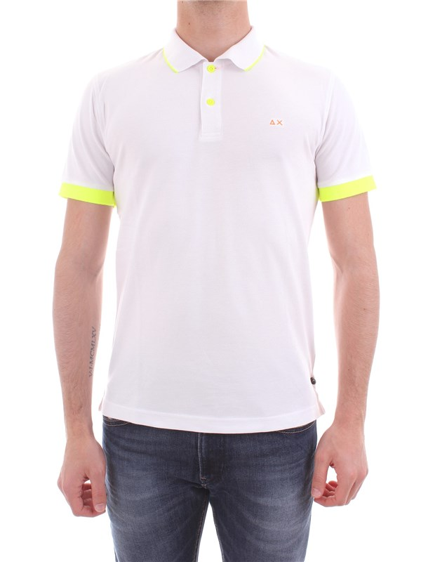SUN 68 Clothing Men Polo shirt WHITE A18115