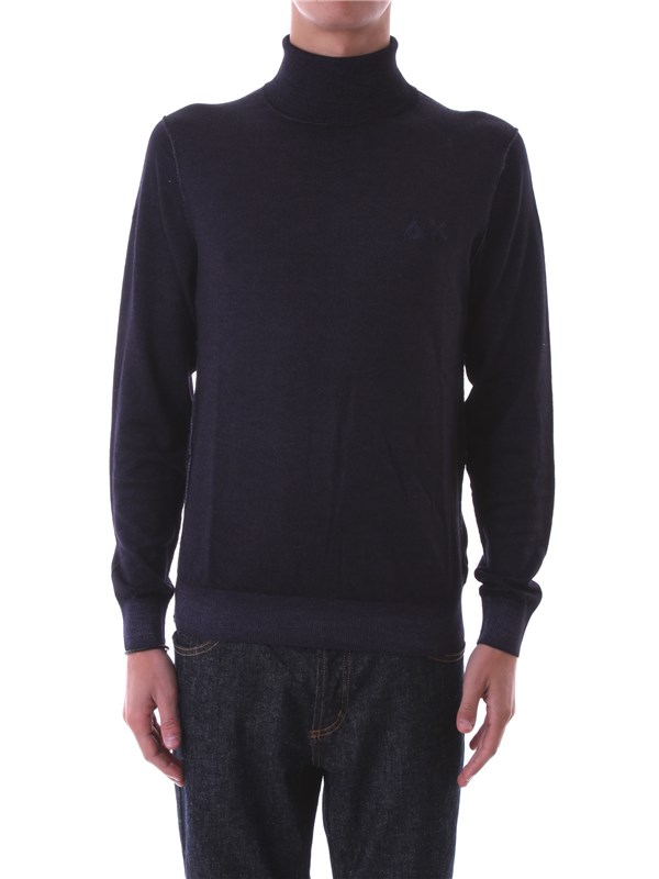 SUN68 Clothing Men Sweater BLACK 26153