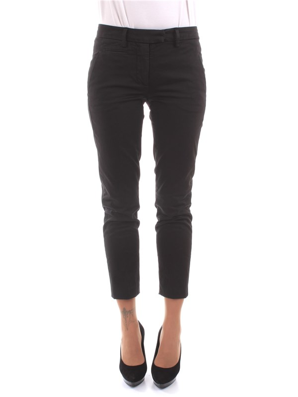 DOND UP Clothing Women Trousers BLACK DP066 RS004