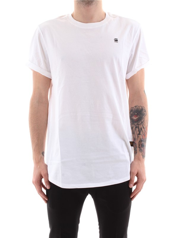 G-STAR Clothing Men T-shirt WHITE D16396 B353