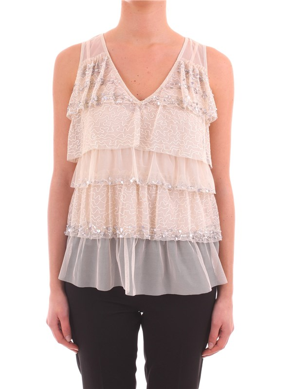 TWIN SET Clothing Women Top BEIGE PS82VR