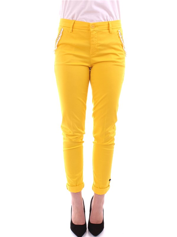 LIU JO Clothing Women Trousers YELLOW F18111 T6747